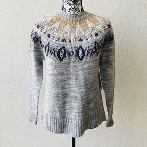 😍NWT Lord&taylor gray cozy warm sweater M